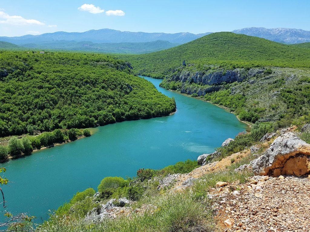 rivier Cetina in Kroatie