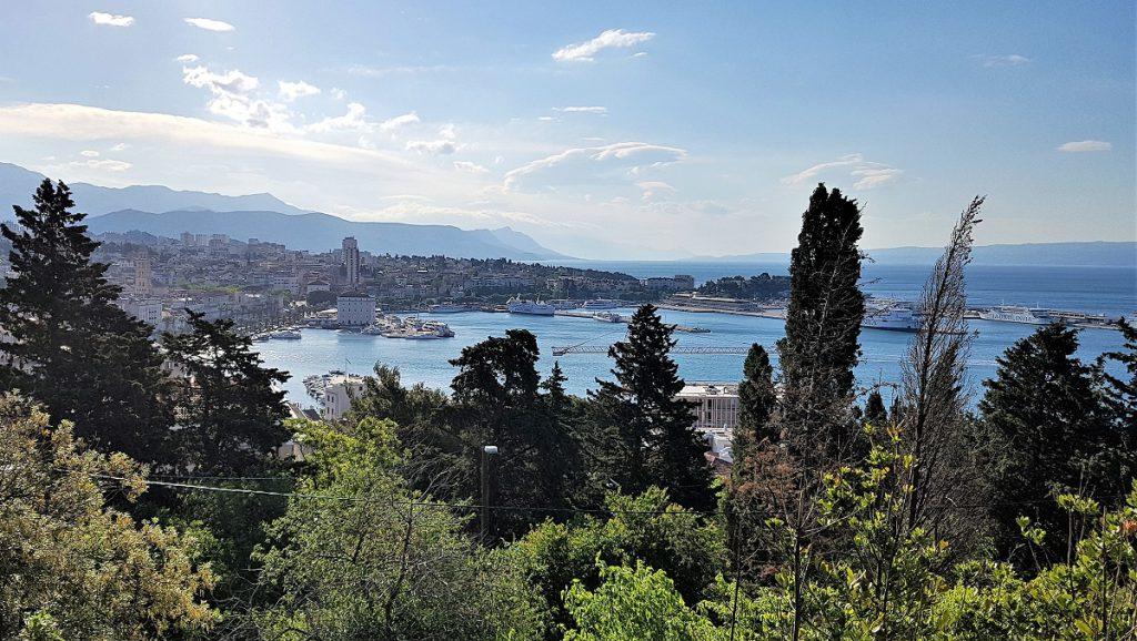 Uitzicht Marjan-heuvel in Split